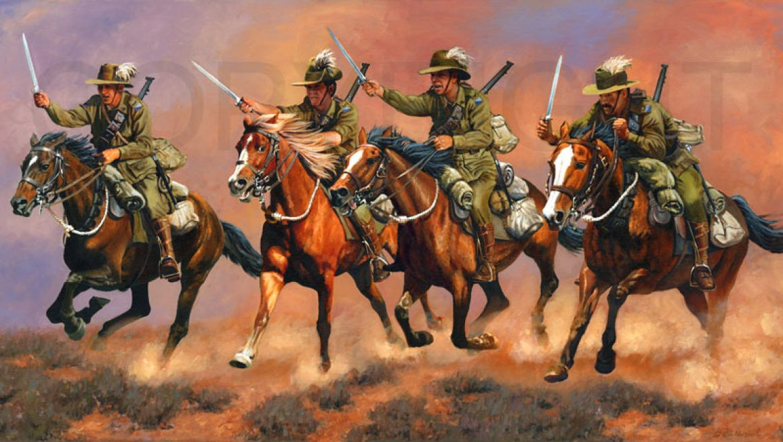 באש או בחרב, 1917-18 * , (דילֶמַת 'הפרשים הקלים האוסטרליים' במלחמה העולמית הראשונה)